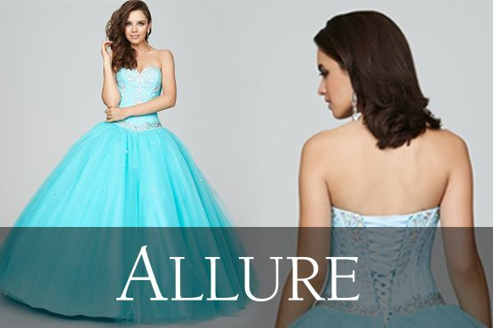 Allure designer quinces dresses