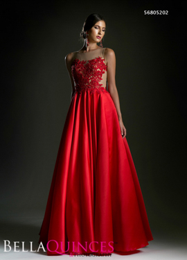 5202 prom dress red bella quinces photography