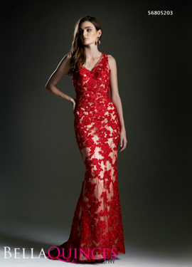 5203 prom dress red bella quinces photography