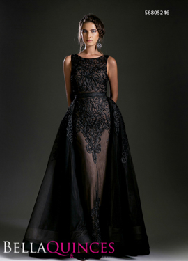 5246 prom dress black bella quinces photography
