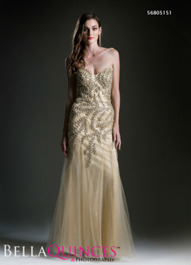 5151 prom dress gold bella quinces photography