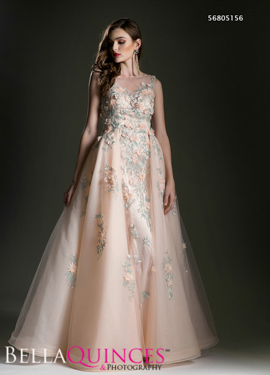 5156 prom dress peach bella quinces photography