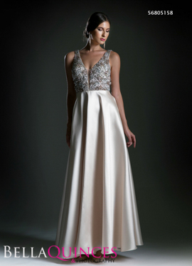 5158 prom dress champagne bella quinces photography