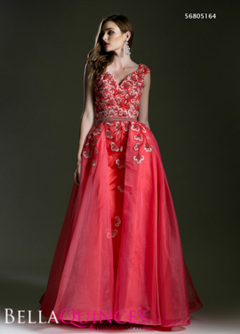 5164 prom dress coral bella quinces photography