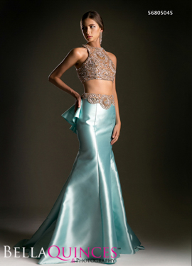 5045 prom dress turq gold bella quinces photography