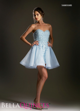 5085 prom dress blue bella quinces photography