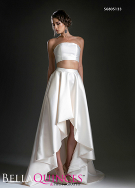 5133 prom dress white bella quinces photography