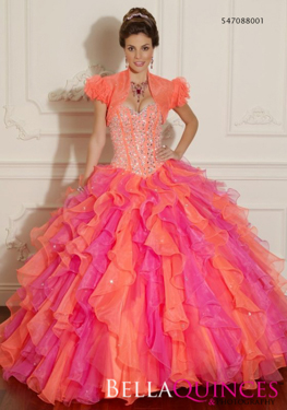vizcaya 88001 orange pink bella quinces photography
