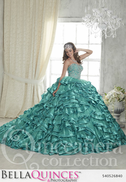 26840 teal quinceanera collection bellaquinces photography