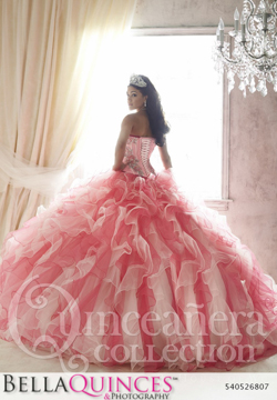 26807 coral nude quinceanera collection bellaquinces photography