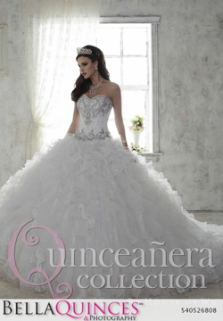 26808 white quinceanera collection bellaquinces photography