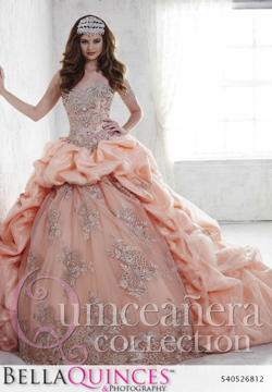 26812 peach quinceanera collection bellaquinces photography