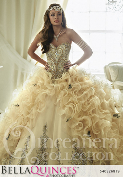 26819 gold quinceanera collection bellaquinces photography