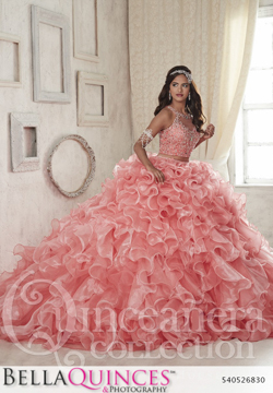 26830 peach quinceanera collection bellaquinces photography