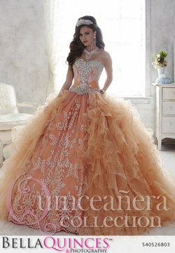 26803 peach quinceanera collection bellaquinces photography