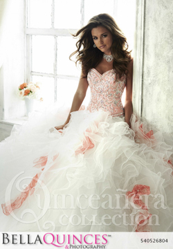 26804 white peach quinceanera collection bellaquinces photography