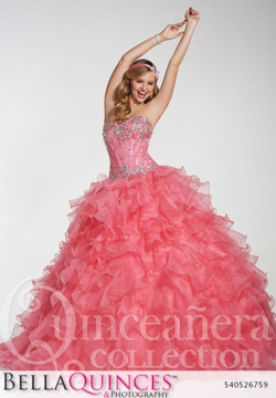 26759 coral quinceanera collection bellaquinces photography