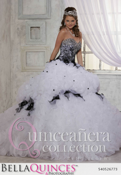 26773 white black quinceanera collection bellaquinces photography