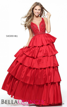 50719 prom glam red bella quinces photography