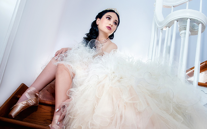 Beautifull Quinceanera with a ballerina dress
