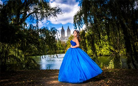 Quinceanera Photography sweet sixteen  photography New York blue dress