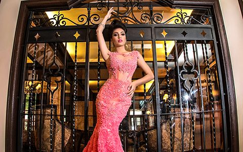 Quincenera photography themes Cruz Building Prom Dress