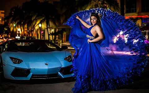 quinceanera nigth shoot in miami