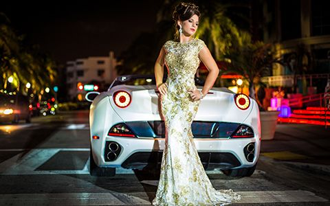 Quinceanera photography  themes with car