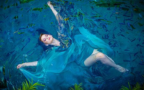 Quinces photography underwater Secret Gardens